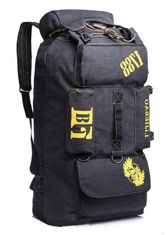 Рюкзак великий чорний 90 л. Lijiebao