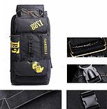Рюкзак великий чорний 90 л. Lijiebao, фото 5
