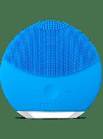 Электрическая щетка-массажер для чистки лица реплика Foreo Luna Mini голубая