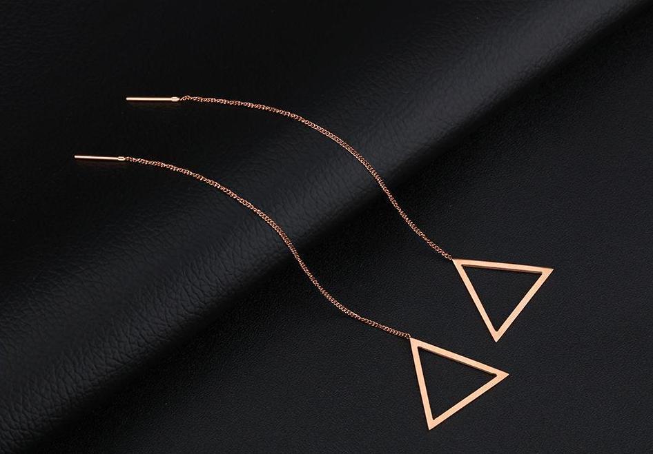 Сережки трикутники без вставок