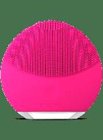 Электрическая щетка-массажер для чистки лица реплика Foreo Luna Mini темно-розовая