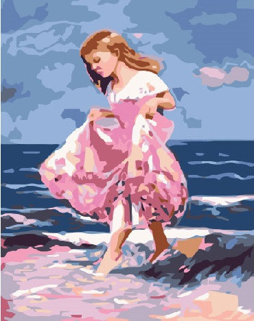 Картина по номерам По следам моря 40 х 50 см (BK-GEX5045)