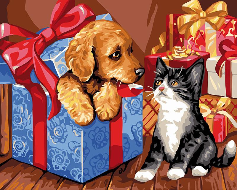 Картина по номерам Распаковка подарков 40 х 50 см (BK-GX24121)