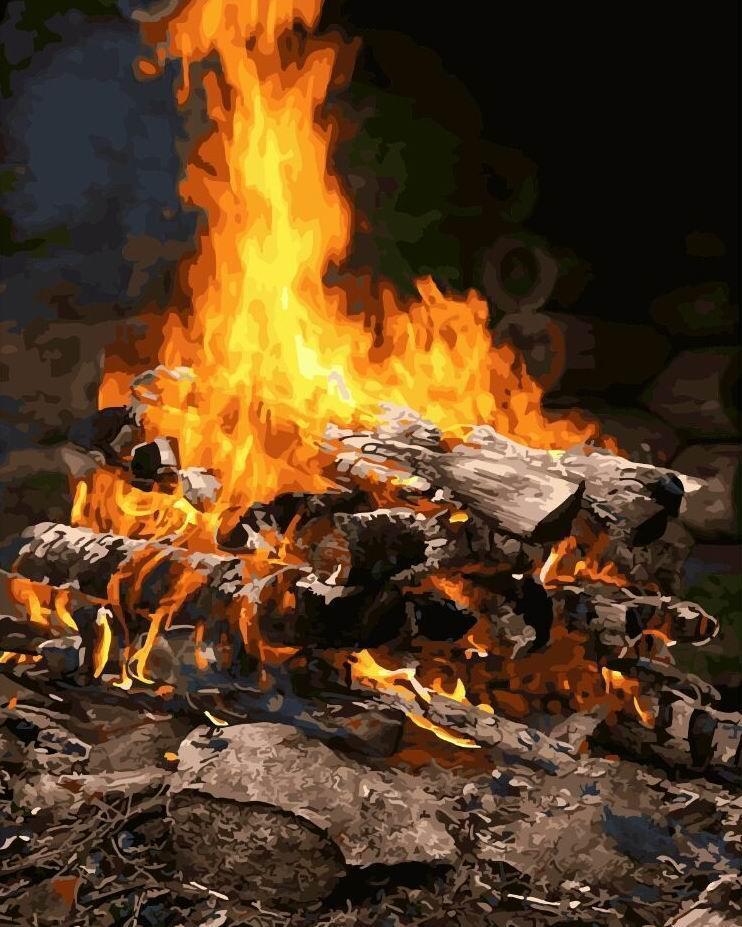 Картина по номерам Магия огня 40 х 50 см (BK-GX21741)
