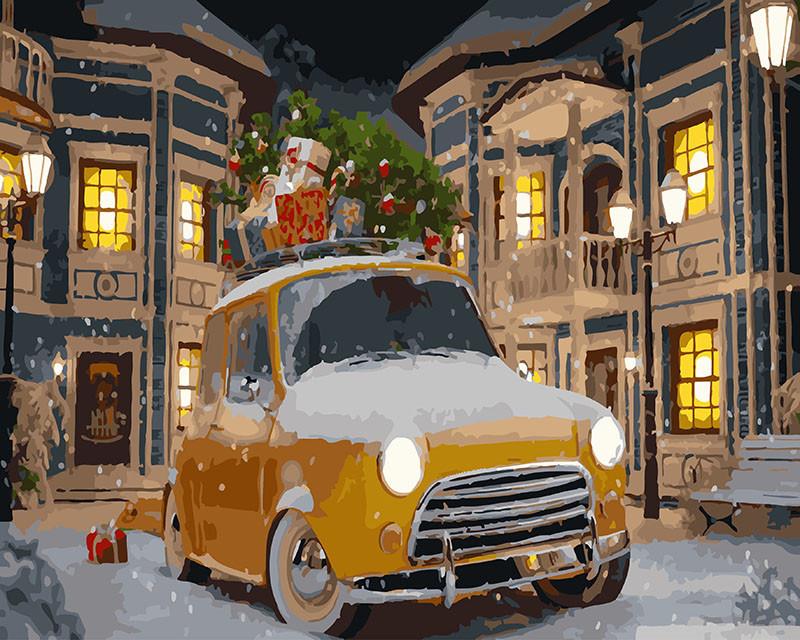 Картина по номерам Такси спешит на праздник 40 х 50 см (BK-GX26270)