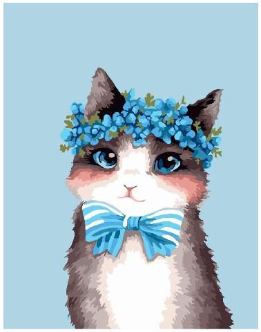 Картина по номерам Стильный котик 40 х 50 см (BRM22297)