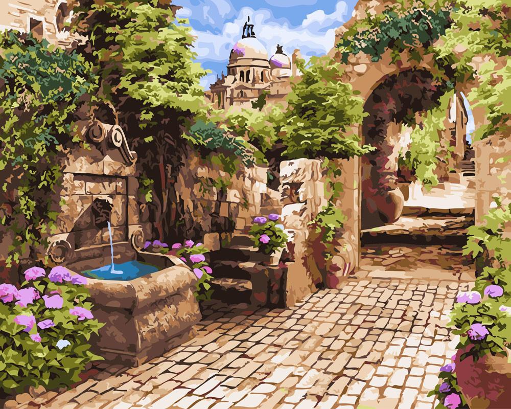 Картина по номерам Мощеная улочка 40 х 50 см (BK-GX26091)