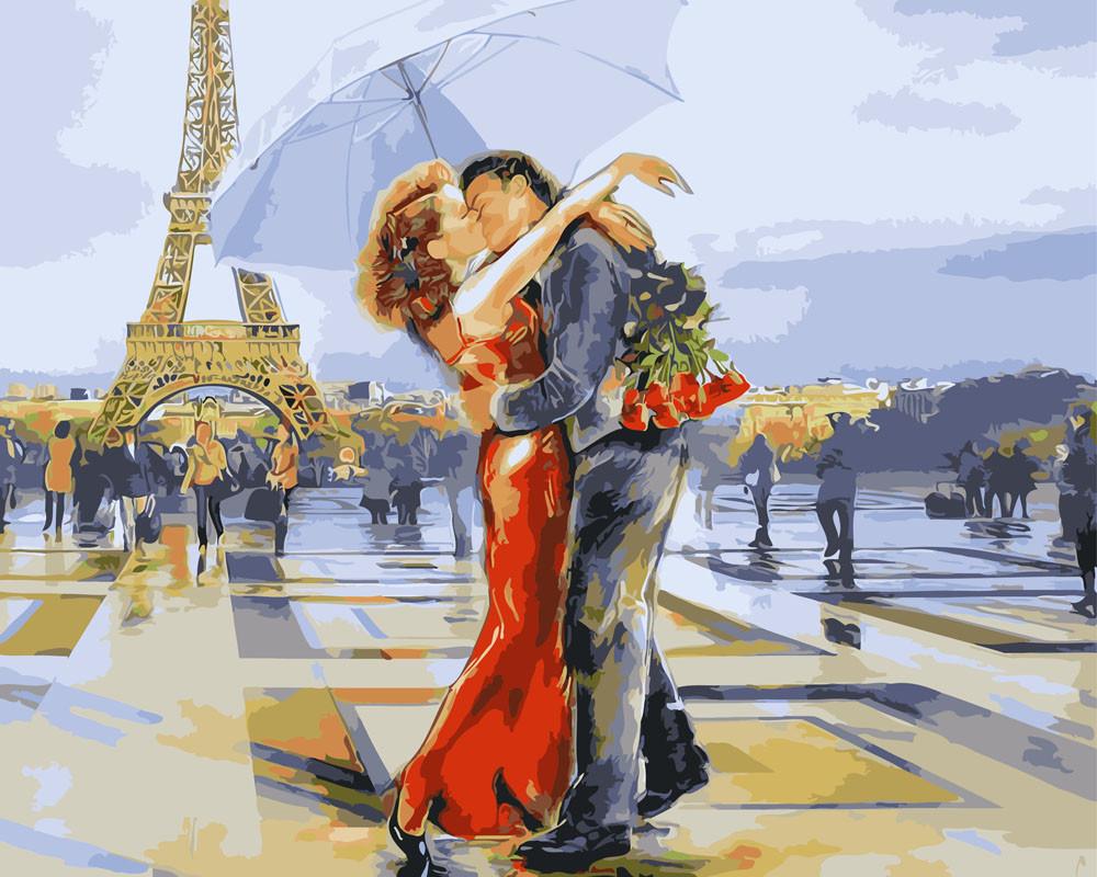 Картина по номерам Париж - город влюбленных 40 х 50 см (BK-GX3122)