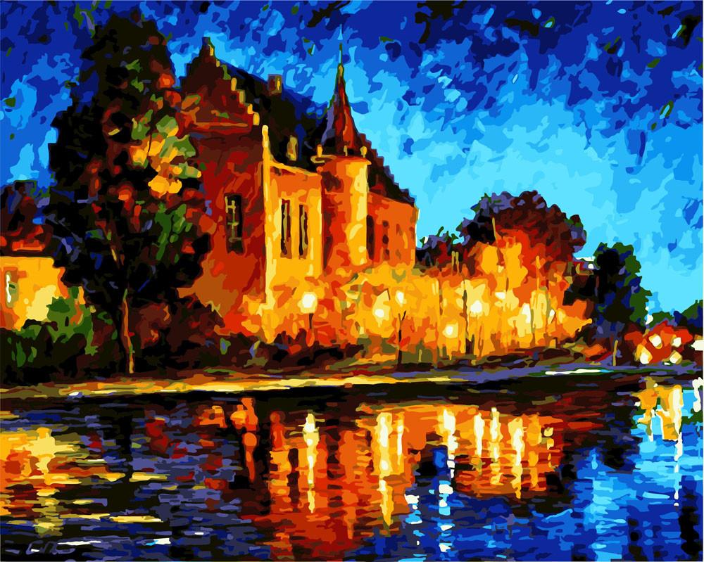 Картина по номерам Дом в лучах заката 40 х 50 см (BK-GX3466)
