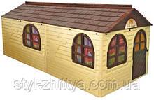 Найбільший ігровий дитячий будиночок з фіранками. 2 кольори