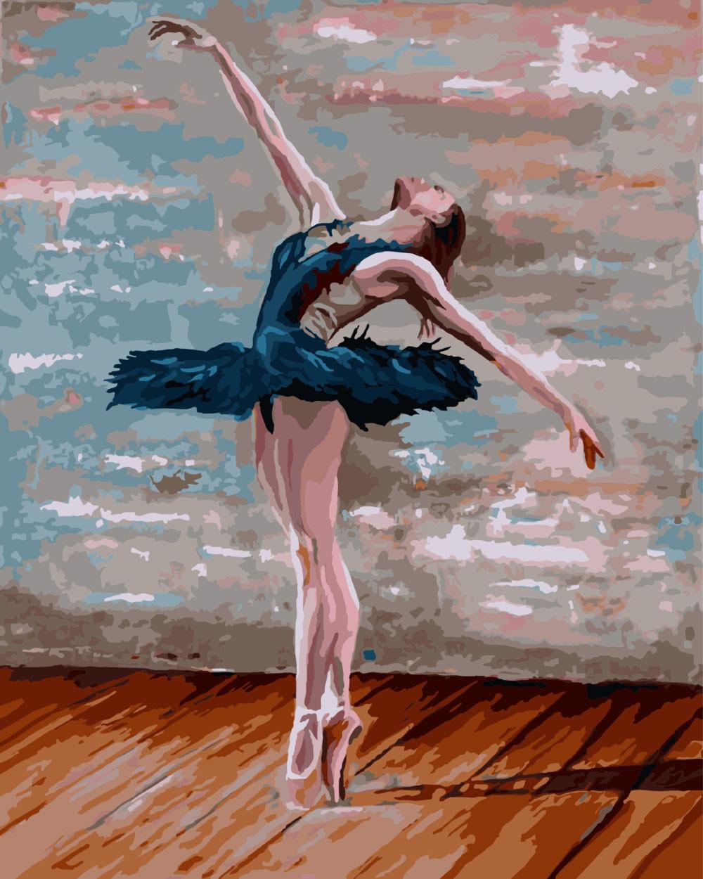 Картина по номерам Балерина  40 х 50 см (BK-GX8342)