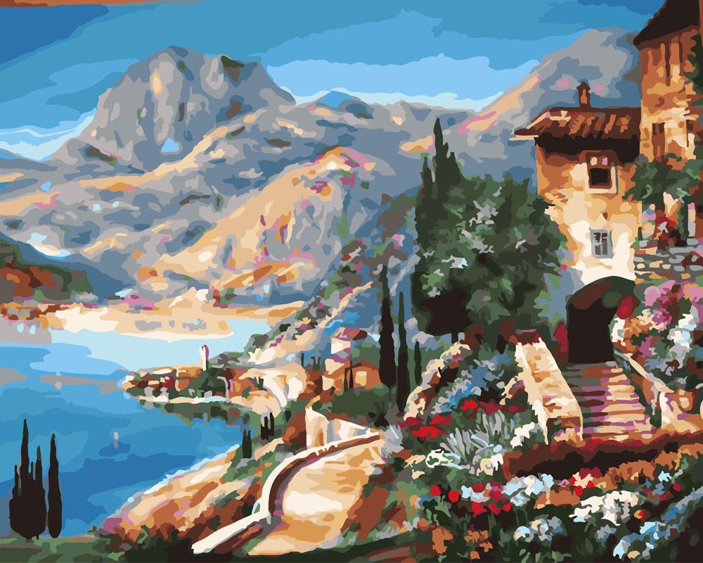 Картина по номерам Средиземноморский пейзаж 40 х 50 см (BRM25648)