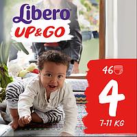 Подгузники-трусики Libero Up&Go Maxi 4 (7-11 кг) 46шт.
