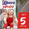 Подгузники-трусики Libero Up&Go Maxi Plus 5 (10-14 кг) 42 шт.