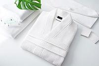 Вафельный халат Пике Кимоно белый 210г/м2