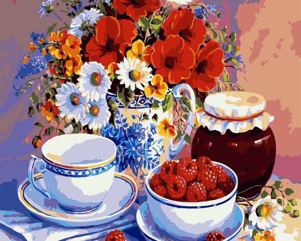 Картина по номерам Приглашение на чай 40 х 50 см (BRM7469)