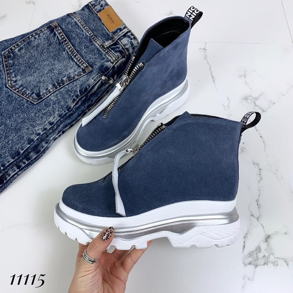 a59747b70 Ботинки женские замшевые голубые спортивные с молнией: продажа, цена ...