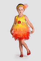 """Детский карнавальный костюм Осенний лист """"пышный"""" для девочки, рост 98-128"""