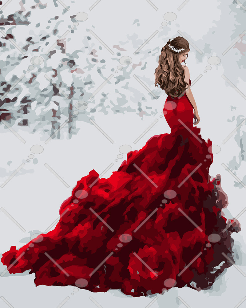 Картина по номерам Снежная королева 40 х 50 см (KH4540)