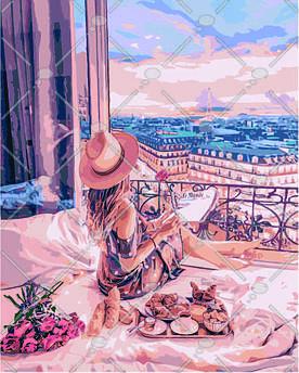 Картина по номерам Очарование Парижа 40 х 50 см (KH4544)