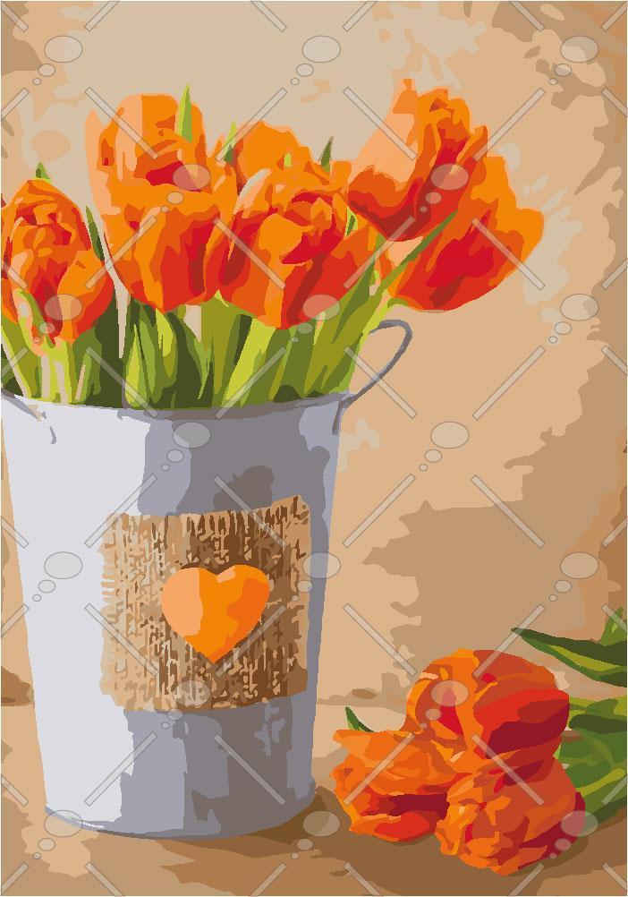 Картина по номерам Праздник любви 35 х 50 см (KHO2940)
