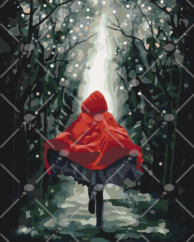 Картина по номерам Красная шапочка 40 х 50 см (KHO4541)
