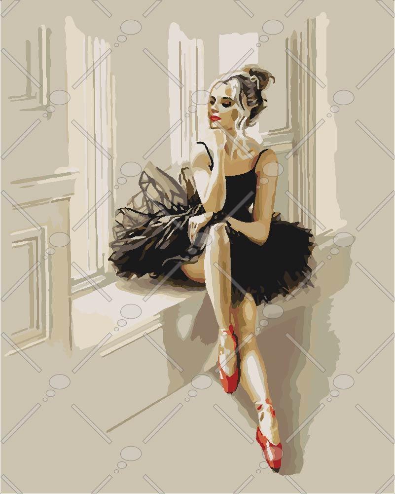 Картина по номерам Шарм балерины 40 х 50 см (KHO4548)