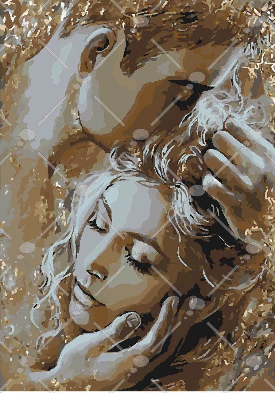 Картина по номерам Золотые объятия 35 х 50 см (KHO4563)