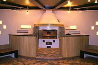 Барбекю с варочной плитой в современном стиле
