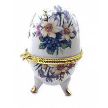 Скринька Яйце для ювелірних виробів Квіти
