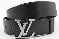 Ремень мужской кожаный Louis Vuitton ширина 40 мм. реплика 930828