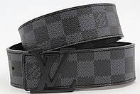 Ремень мужской кожаный Louis Vuitton ширина 40 мм. реплика 930832
