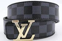 Ремень мужской кожаный Louis Vuitton ширина 40 мм. реплика 930833