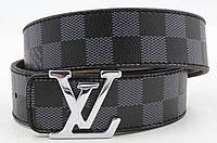 Ремень мужской кожаный Louis Vuitton ширина 40 мм. реплика 930834