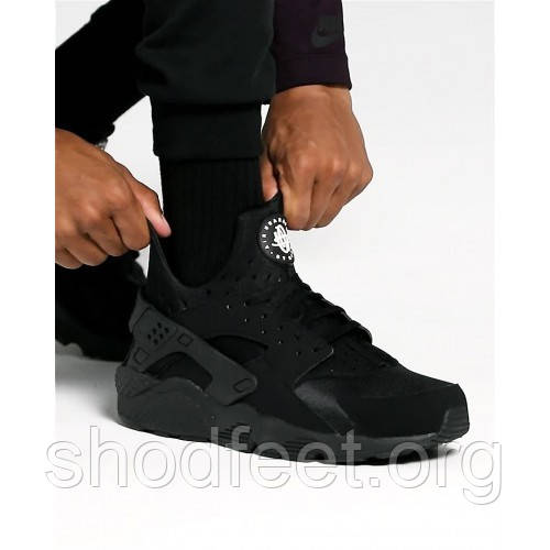 Мужские кроссовки Nike Air Huarache Triple Black 318429-003