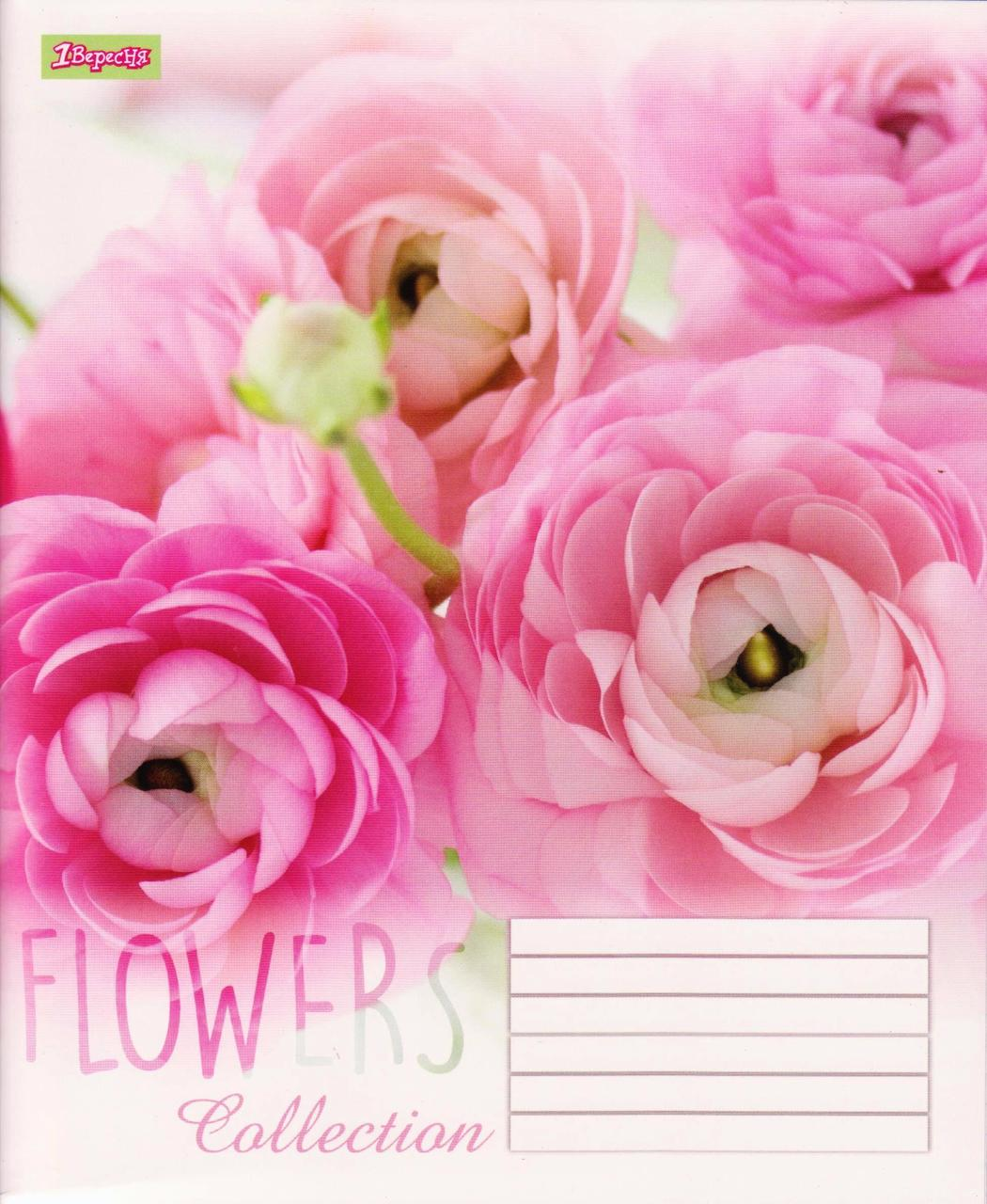 "Тетрадь 60 л. клетка ""Flower collection"""