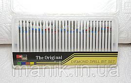 Набор насадок для маникюра Diamond drill bit set, 30 шт