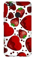 Чехол для телефона клубника Huawei P10 LITE силиконовый пластиковый