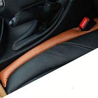 Прокладка между седеньями и ручником автомобиля  - 2 шт, черные