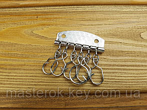Карабины для ключницы на 6 шт цвет Никель Тип 1