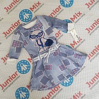 Детские катоновые туники  для девочек с кошкой с паетками меняшками  Angelina