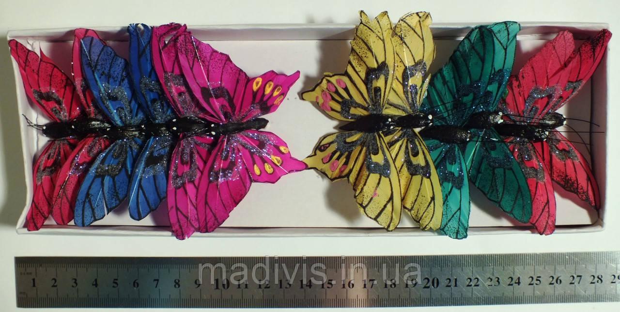 Бабочки на проволоке №62355 (НАБОР - 12 шт.)