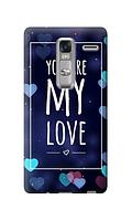 Чехол для телефона you are my love LG CLASS силиконовый пластиковый