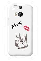 Чехол для телефона она HTC One M8 силиконовый пластиковый