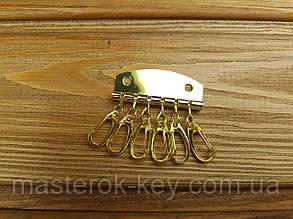 Карабины для ключницы на 6 шт цвет Золото Тип 2