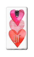 Чехол для телефона c любовью LG X SCREEN силиконовый пластиковый
