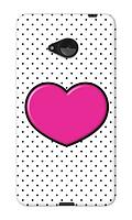 Чехол для телефона розовое сердце Nokia N535 силиконовый пластиковый