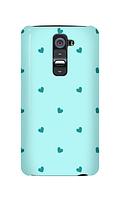 Чехол для телефона голубые сердечки LG K8 силиконовый пластиковый