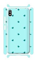Чехол для телефона голубые сердечки Huawei Honor 4A силиконовый пластиковый