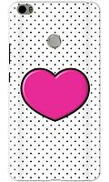 Чехол для телефона розовое сердце Xiaomi Mi MAX силиконовый пластиковый